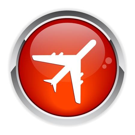 avion: bouton internet avion red