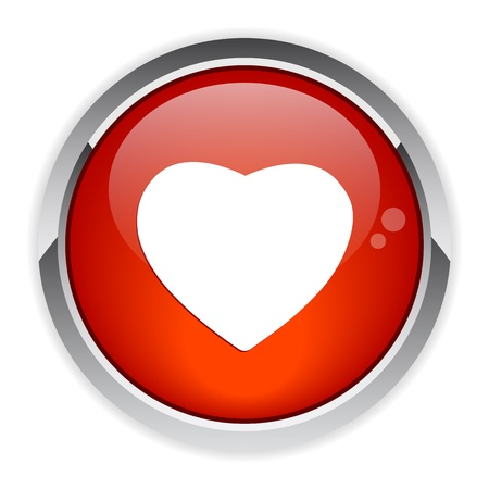 coeur: bouton internet coeur red