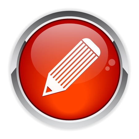 bouton internet crayon red Vector
