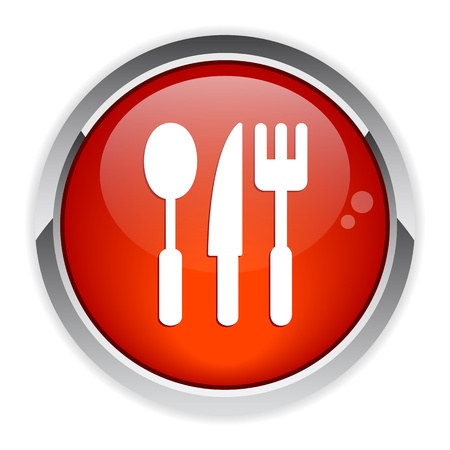 3 dimensions: bouton internet cuisine icon red
