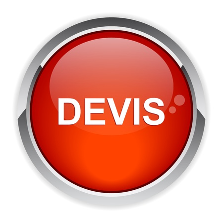 bouton internet devis icon red Stock fotó - 21395076