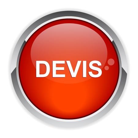 Bouton internet icono devis rojo Foto de archivo - 21395076