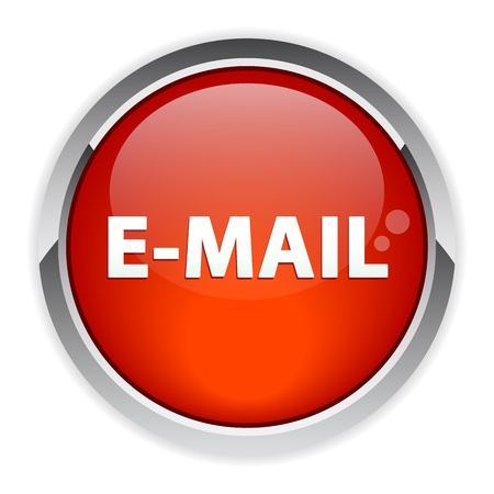 approximately: bouton internet e-mail sign icon red