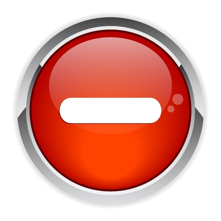 bouton internet moins sign red