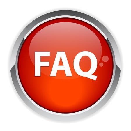 faq icon: bouton internet question FAQ icono rojo