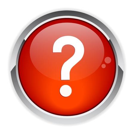 e survey: bouton internet question icon red Illustration