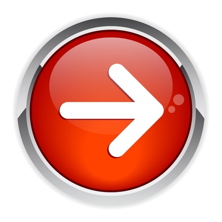 following: button arrow sign red