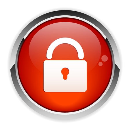 blocked: Button online security sign Illustration