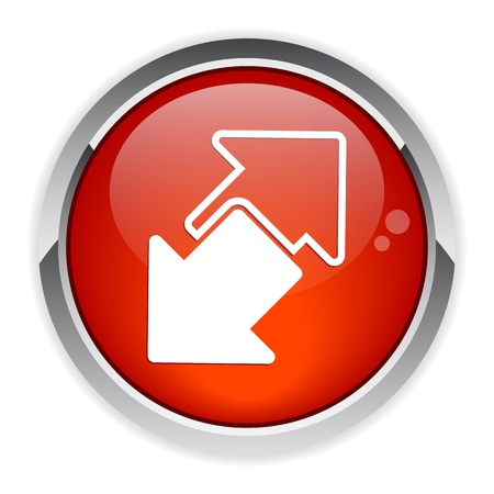 disconnect: Button Internet connection disconnect button arrow icon red Illustration