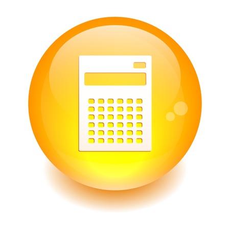 3 dimensions: button sphere calculator Illustration