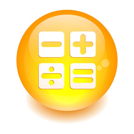 button sphere calculation icon Illustration