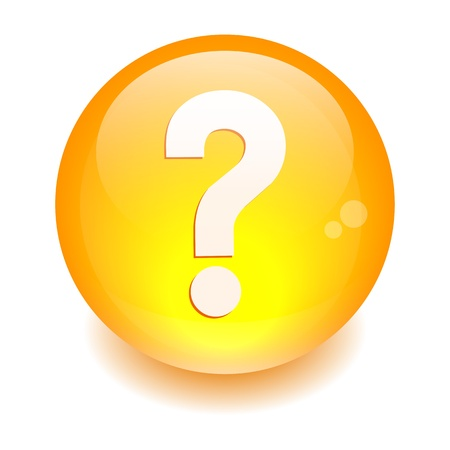 e survey: Sphere button question icon