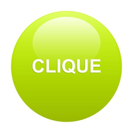 clic: bouton internet clic icon green