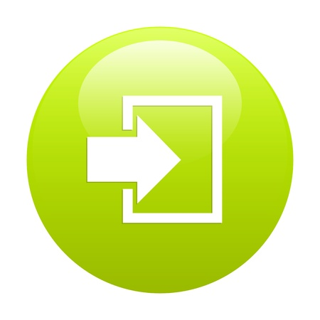 bouton internet connexion icon green
