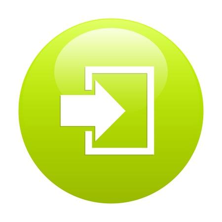 connexion: bouton internet connexion icon green