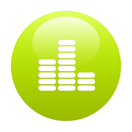 musique: bouton internet equalizer musique green Illustration