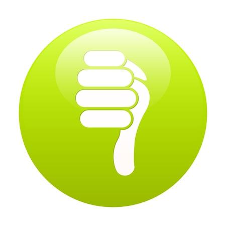 bouton internet pouce bas green Vector
