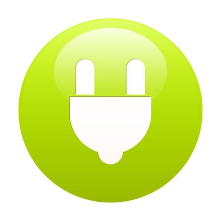 plugins: bouton internet prise electric power green