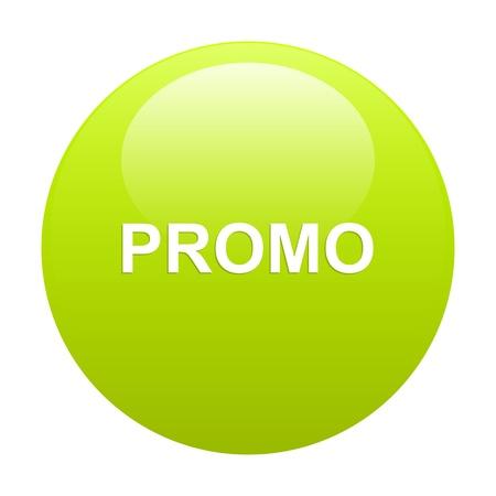 Bouton internet promo verde Foto de archivo - 21570093