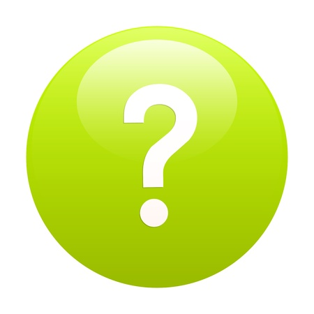 e survey: bouton internet question icon green Illustration
