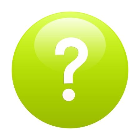 e survey: bouton internet question icon green Illustration