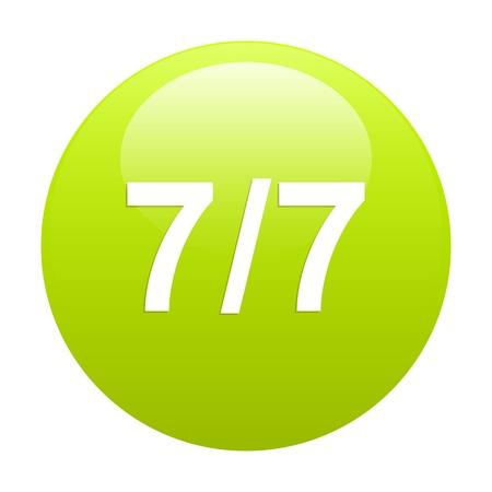 bouton internet 77 green Vector