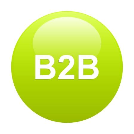 3 dimensions: bouton internet B2B icon green