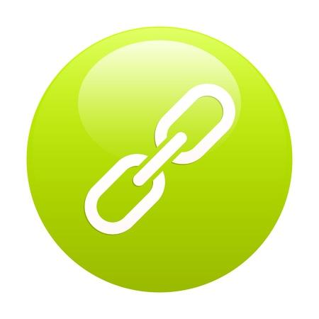 lien: bouton internet chaine lien green