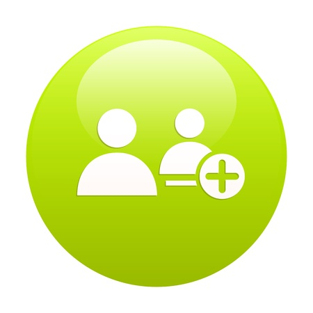 bouton internet contact green Stock Vector - 21570113
