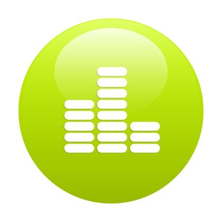 musique: bouton internet equalizer musique icon green Illustration