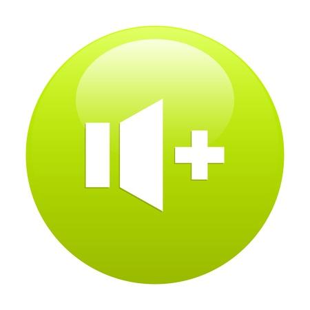 musique: bouton internet son musique plus green