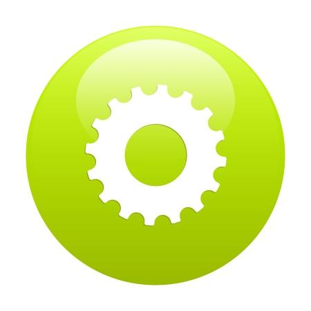 3 dimensions: button web settings icon Illustration