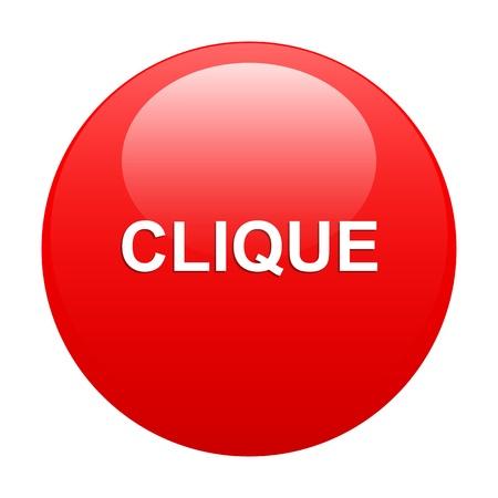 bouton internet clique icon clic Vector