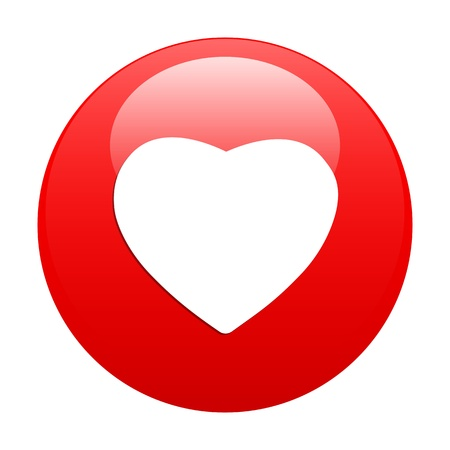 coeur: bouton internet coeur sign icon red