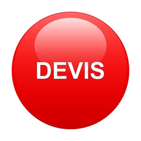 bouton internet devis red Vector
