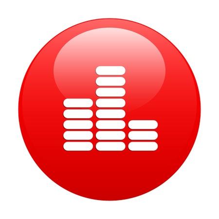 musique: bouton internet equalizer musique red Illustration