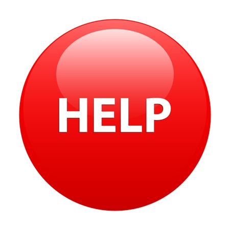 bouton internet help icon red Vector