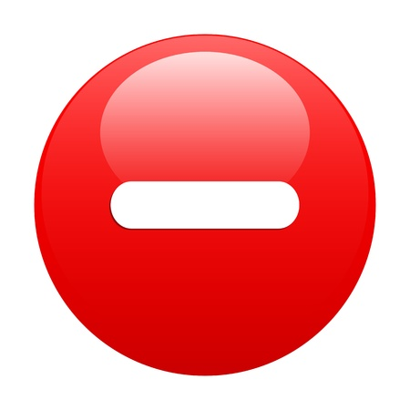 bouton internet moins red Stock Vector - 21635003