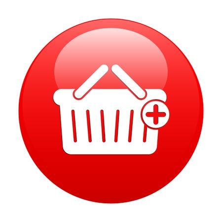 ブートン インターネット パニエ アイコンの赤  イラスト・ベクター素材