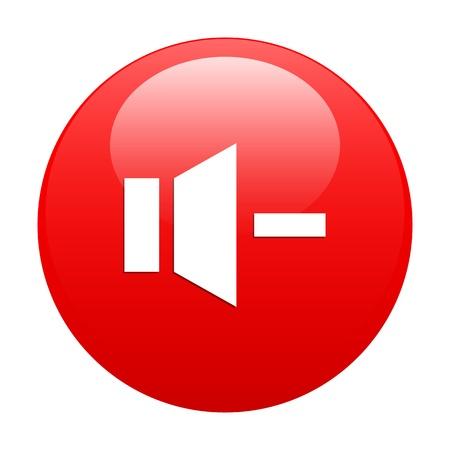 bouton internet son musique minus red Vector