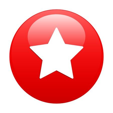 sideburns: Bouton Web Favori star icon red