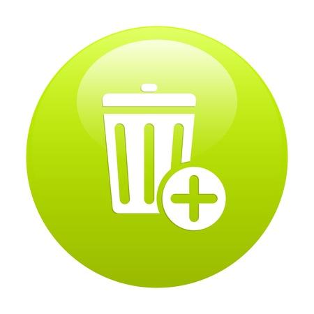 detritus: Button trash icon web