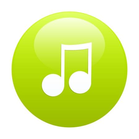 button music sign green Stock Vector - 21846311