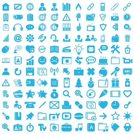Graphic icon business set button Vector