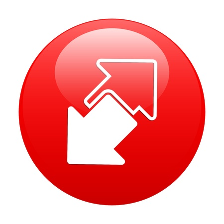 disconnect: button internet connection disconnect arrow red