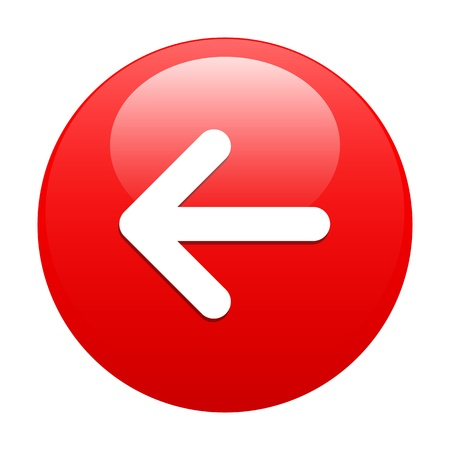 button Left arrow red Illustration