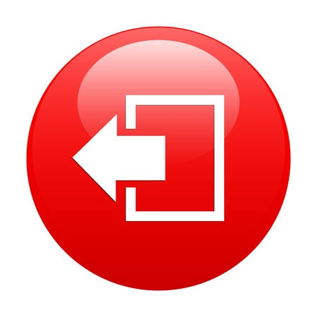 button output disconnect Internet icon red Illustration
