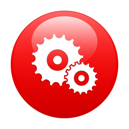 button settings icon red
