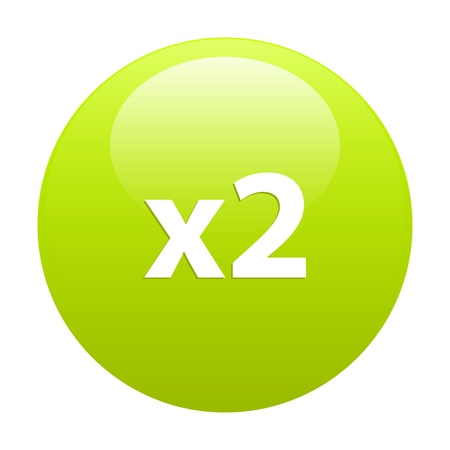 accelerated: Button accelerated Internet 2x