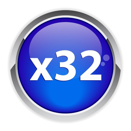 accelerated: accelerated Internet button sign 32x blue